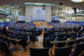 Plenary hall on Day 1 of the Bonn Climate Change Conference